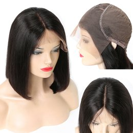indian hairstyles for women wigs Australia - Straight Bob Lace Front Wigs Short Human Hair Wigs For Black Woman Peruvian Malaysian Raw Virgin Indian Hair Pre Plucked Hairline Remy Beyo