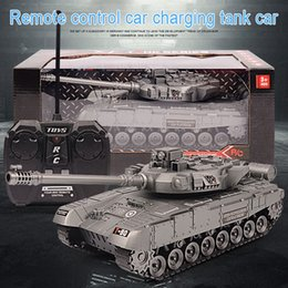 RC War radio Tank charger battle launch cross country tracked remote control vehicle Hobby boy toys for kids children Gift Y200413 on Sale