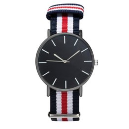 China Minimalist Watch Black Dial Canvas Nylon Strap Men Women Lover's Brand Luxury Quartz WristWatch Ladies Watches Gift Clock reloj supplier minimalist watches men suppliers