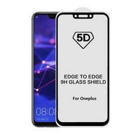 $enCountryForm.capitalKeyWord Australia - 5D Full Cover 9H Tempered Glass Screen Protector film For Oneplus 7 pro 5 5T 6 6T