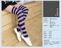 japanese thigh high socks 2019 - 2020 new Women's stockings over knee socks Japanese thigh socks striped high stockings colored striped stockings di