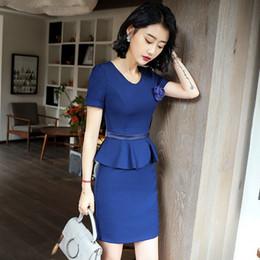 615e8976c45 Dress korean woman working summer online shopping - New style slim korean  women summer dress Office