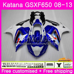$enCountryForm.capitalKeyWord Australia - Kit For SUZUKI KATANA GSX650F GSXF 650 GSXF-650 08 09 10 11 12 13 14 14HM.6 GSXF650 2008 2009 2010 2011 2012 2013 2014 Fairing White Blue