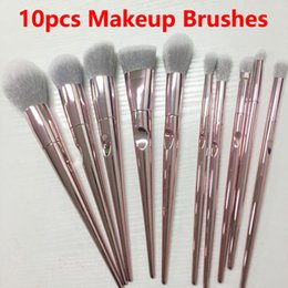 Gold Brush Makeup Australia - Makeup Brushes10pcs Brush Set Rose Gold Makeup Brushes Eyeshadow Powder Contour Brush Kits Beauty Cosmetics tools Brushes Foundation Brushes