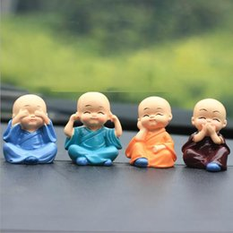 Kung fu doll online shopping - 2020 New hot Car Jewelry Decoration Cartoon Doll Decoration Cute Expression Car Interior Decoration Kung Fu Kid Small Shami Supplies Gifts