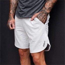 Mens White Running Shorts Australia - Summer Sport Shorts Men Fitness Crossfit Sweatpants Compression Short Pants Underwear Mens Gym Cotton Run Jogging Shorts
