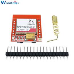 Ingrosso Freeshipping 10Pcs Mini più piccolo SIM800L GPRS GSM Modulo MicroSIM Card Core scheda wireless Quad-band TTL Serial Port con antenna per Arduin