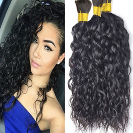 22 inch hair for cheap NZ - Unprocessed 8A Human Hair Bulks No Weft Cheap Brazilian Water Wave Hair in Bulk for Braids No Attachment Wholesale