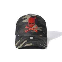 dome badge NZ - Qp 2019 new summer new women hats with imported fabrics comfortable fashion baseball hat brands camouflage skull badge