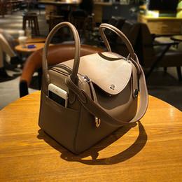 24f86aa36981 Designer brand Women Handbag cowskin Doctor Bag Shoulder Bag Female genuine  leather Crossbody Handbag Lock Girls Vintage Women tote Bags
