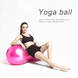 Discount massage balanced ball - Anti-Burst Pilates Yoga Ball Sports Peanut Yoga Balls Pilates Gym Balance Fitness PVC Exercise Workout Massage Ball