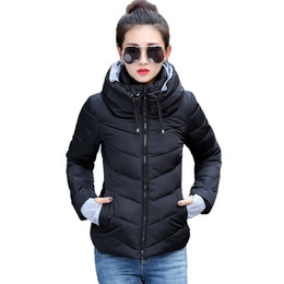 Feather Jackets Women UK - 2019 New Ladies Fashion Coat Winter Jacket Women Outerwear Short Wadded Jacket Female Padded Parka Women's Overcoat