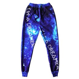Hot Boys Pants Sports NZ - Wholesale-2015 hot new arrival mens jogger pants 3D graphic print galaxy space sport running sweat pants men boy hip hop trousers jogging