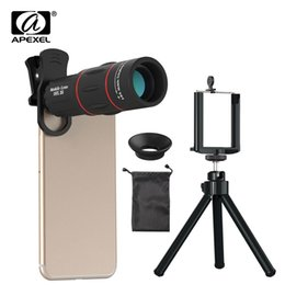 18x zoom camera Australia - Apexel 18x Telescope Zoom Mobile Phone Lens Universal Clip Telefon Camera Lentes With Tripod For Iphone 7 8 X Xs Huawei P20 Pro J190704