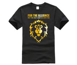 Dota shirts online shopping - New Summer Cool Game T Shirt Men s DOTA T Shirt Fashion For The Alliance Men T shirt Short Sleeve Cotton O neck Lion Tops