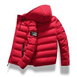 Wholesale drop waist coat resale online - drop shipping New Fashion Men Winter Jacket Coat Hooded Warm Mens Winter Coat Casual Slim Fit Student Male Overcoat ABZ82