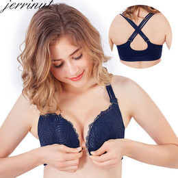 c8e3f7a04c1c1 Jerrinut Lace Plus Size Bra Front Closure Underwear Women Bra Push Up Bralette  Large Size Women Wire Free Big Cup