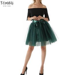 Skirt pluS SizeS online shopping - Layers Midi Tulle Skirt For Girls Fashion Party Tutu Skirts Women Ball Gown Petticoat Lolita Saia Jupe