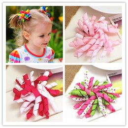 $enCountryForm.capitalKeyWord Australia - diy flower korker hair ribbon bow baby girls hair clips for girls women of grosgrain bows for hair children hairpins accessories