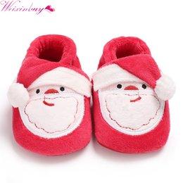Infant Prewalkers Australia - Christmas Party Baby Shoes Toddler Infant Newborn Soft Sole Santa Claus First Walkers Prewalkers Boy Girl Baby Shoes