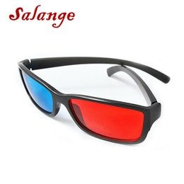 AnAglyph 3d movies online shopping - Universal Black Frame Red Blue Cyan Anaglyph D Glasses mm Cheap D Glasses For LED Projector Movie Game DVD