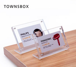 $enCountryForm.capitalKeyWord Australia - L Acrylic Photo Frame Black Clear Small Paper Frame Desk Table Sign Holders Info Data Card Frame Label Cover Price Tag Display