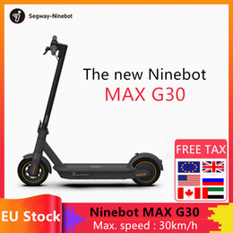 Wholesale Original Ninebot by Segway MAX G30 Smart Electric Scooter foldable 65km Max Mileage KickScooter Dual Brake Skateboard With APP