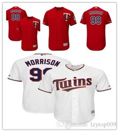 335c9a9fb6e Men's Twins 99 Logan Morrison Majestic Scarlet Alternate Authentic  Collection Flex Base Player Minnesota women kids Jersey