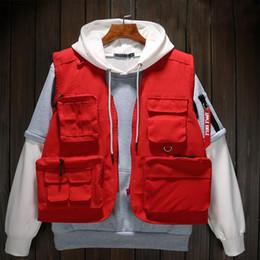 Wholesale black multi pocket vest resale online - Autumn High Quality Brand Vests Military Tactical Vests Hunting Multi Pocket Vests Director Volunteer Uniform Yelek Erkekler T200103