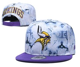 Discount flats bill hats Popular Sport Baseball Snapback Hats For Viking Team Brands Hip Hop Out Door Sun Caps Men's Cheap Flat Bill Sports