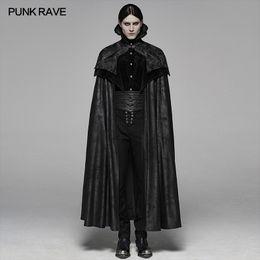 Mens gothic long coat online shopping - PUNK RAVE Men s Noble Gothic Gorgeous Long Cloak Big Hem Handsome Winter Coat Party Club Halloween Cosplay Cape Mens Coats