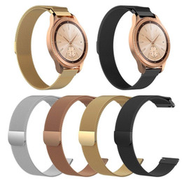 $enCountryForm.capitalKeyWord Australia - 20MM 22MM Magnetic Milanese Loop Strap for Samsung Galaxy Watch 42mm 46mm Gear Sport S3 S2 Amazfit Bip