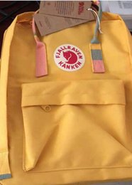 bicycle sales NZ - Fjallraven Kanken backpack bag Yellow student version skin bag Mummy bag bicycle backpack On Sale