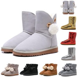 soft heels 2019 - New designer woman shoes WGG winter boots women boots gold grey pink WGG designer womens shoes winter snow boots 36-41 c