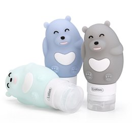 Cartoon Stamping Australia - Cartoon Portable Silicone Travel Bottle Lotion Shampoo Shower Gel Lotion Sub-bottling Cosmetic Empty cute Mini Container New LJJT32