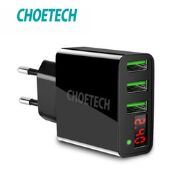 $enCountryForm.capitalKeyWord Australia - Choetech 3 Port Led Display Usb Charger Universal 3a Mobile Phone Usb Charger Fast Charging Wall Charger For Iphone 7 Xiaomi Lg T190627