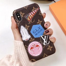 Painted Phone cases online shopping - Top Quality Luxury Phone Case for iphone X Xs XR max plus Leather Painted Designer Hard phone Case