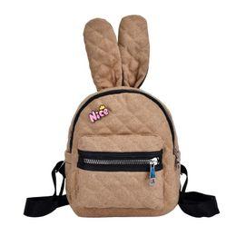 87e3823aa8 Girls School Backpack Cute Rabbit Ears Shoulder Bags Mini Backpacks Casual  Women Travel Knapsack Small Women Backpack