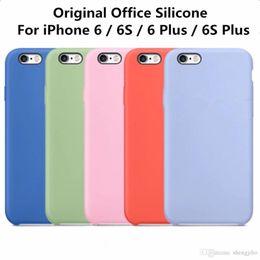 $enCountryForm.capitalKeyWord Australia - Original Liquid Solido Silicon Case For iPhone 6 6s Phone Cover Cases For iPhone 6 6s Plus With Retail Box Luxury Coque Fundas
