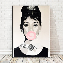 $enCountryForm.capitalKeyWord Australia - 1 Piece Audrey Hepburn Woman Nordic Posters and Prints Art Canvas Painting Modern Home Decoration Wall Pictures No Framed