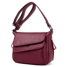 soft leather bags for women Australia - Summer Style Soft Leather Luxury Handbags Women Bags Designer Woman Messenger Shoulder Crossbody Bags For Women 2020 Sac A Main