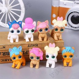 figure cake NZ - 8 style lol doll pet dog doll cute anime key ring cake decoration cartoon car small ornaments PVC Action Figures