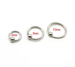 Body Jewelry 3pcs Mix Size Titanium Captive Hoop Rings Bcr Ring Eyebrow Tragus Ear Piercing Nose Closure Nipple Bar Lips Body Jewelry Jewelry & Accessories