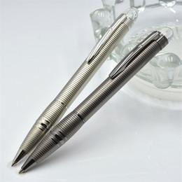 high quality pen brands 2019 - High quality Star-waiker series Silver-Gray Metal Ballpoint pen Ball point pen School office supplies with Monte Brandin