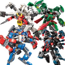 $enCountryForm.capitalKeyWord Australia - 4pc lot 741pcs Children's Building Blocks Toy Compatible City Eudemons Battle Armor Deformation Robot King Kong Warrior MX190731
