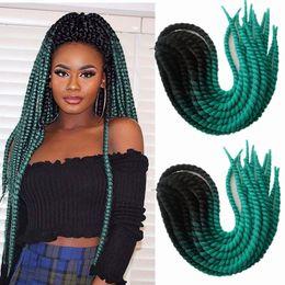 "$enCountryForm.capitalKeyWord Australia - Colored T1B Green Purple 3Tone Ombre Havana Mambo Twist Crochet Braid Hair 120g 22"" Long Kanekalon Ombre Jumbo Synthetic Hair Extensions"