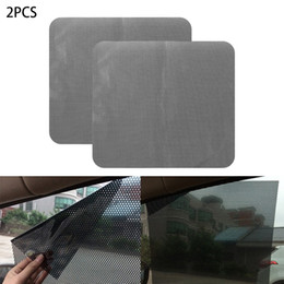 side car sticker Canada - 2Pcs DIY Car Sun Shades Film Sun Protection Window Cover Black PVC Sunshade Side Window ShieldCoating Waterproof PVC Mesh Static Sticker