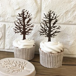 $enCountryForm.capitalKeyWord Australia - 3D Tree Food Grade Silicone Fondant Chocolate Cupcake Cake Decorating Pastry Baking Mould DIY Mold