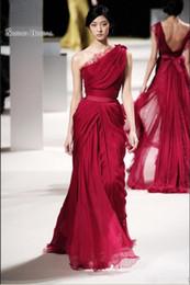 $enCountryForm.capitalKeyWord Australia - 2019 Long Evening Celebrity Dresses Lace One Shoulder Chiffon Sash A-Line Maxi Dress Formal Prom Gown