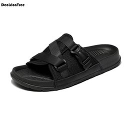 sandals slipper designing 2019 - Fashion Men Mesh Sandals Male Summer Buckle Design Open Toes Flat Beach Shoes Casual Mixed Colour Non-slip Outdoor Slipp